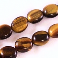 16 Inch Tiger Eye 10x14mm Flat Oval Beads